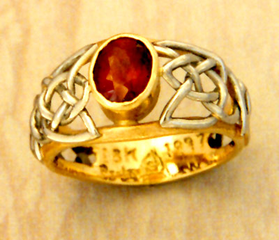 Ruby Celtic Ring