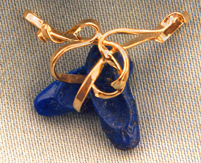 Lapis Toe-Shoes Pendant