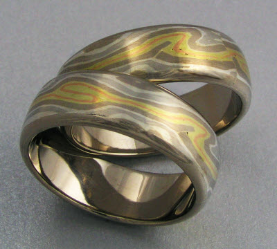 Mokume Gane Wedding Bands on Mokume Gane Wedding Rings