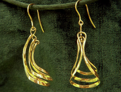 Three-Dangle Earrings