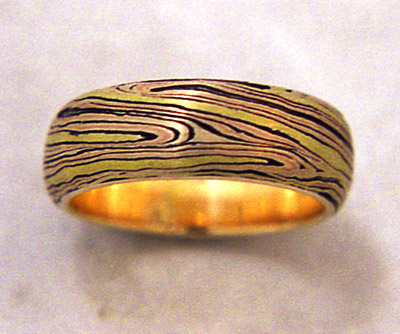 Natural Mokume Ring