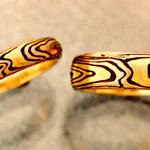 Natural Mokume Bands