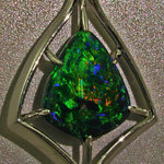 Black Opal and Platinum Pendant