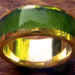 Jade Inlay Ring
