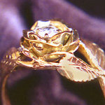 Rose Ring with Diamond