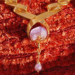 Lake LBJ Pearl Ribbon-Candy Pendant