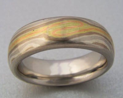 your gane mokume ring gold photos rings make woodgrain own wedding workshop tri